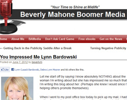 Beverly Mahones Boomer Media Blog